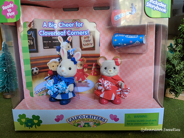Calico Critters Molly Mouse and Stacy Bunny Cheerleading Set