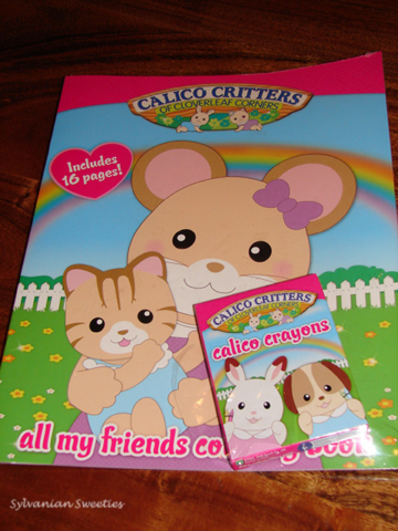 Calico Critters Coloring Book and Crayons