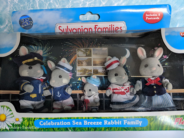 UK Flair Celebration Sea Breeze Rabbit Family. Celebrating the 25th anniversary of Sylvanian Families in the UK.
